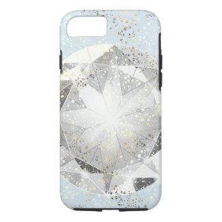 White Diamond on Light Pastel Blue Sparkle iPhone 7 Case