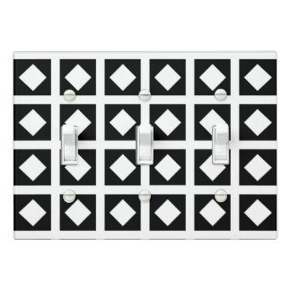 White Diamonds and Black Squares Light Switch Cover