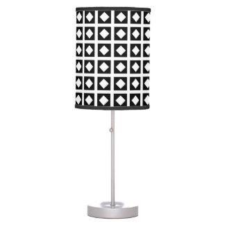 White Diamonds and Black Squares Table Lamp