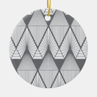 White diamonds ceramic ornament