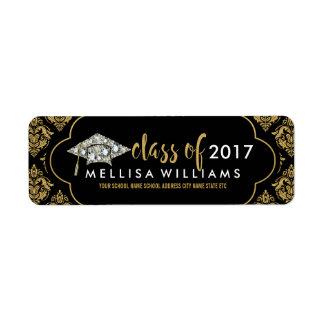 White Diamonds Class Of 2017 Black & Gold Damasks