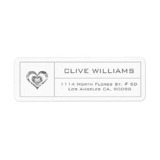 White Diamonds Heart Illustration Silver Frame