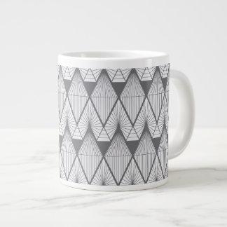 White diamonds large coffee mug