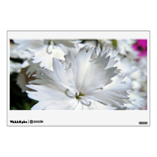White Dianthus Wall Decal
