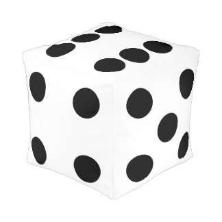 White Dice Pouf