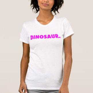 "White ""Dinosaur."" Tank Top w/ Logo"