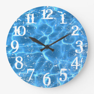 White Distressed Numbers and Photo Overlay Large Clock