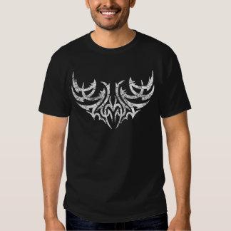 White Distressed Tribal Wing Motif 4 Tee Shirt