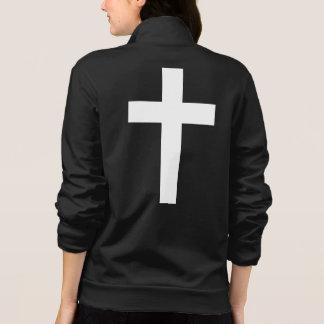White Divine Cross - Women's Fleece Jacket
