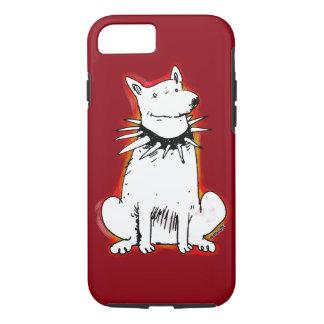 white dog cartoon style illustration iPhone 8/7 case