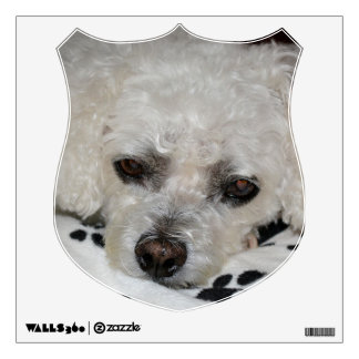 White Dog Decorative Crest Wall Decal