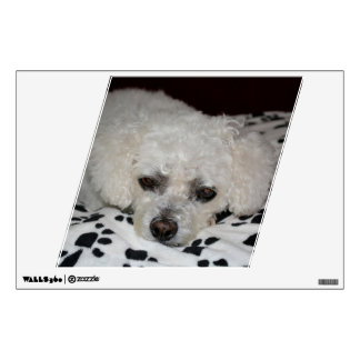 White Dog Parallelogram Wall Decal