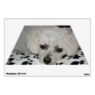 White Dog Trapezoid Wall Decal