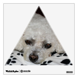 White Dog Triangle Wall Decal