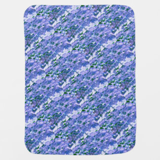 White Dogwood Blossom in Blue Baby Blanket