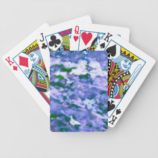 White Dogwood Blossom in Blue Bicycle Playing Cards
