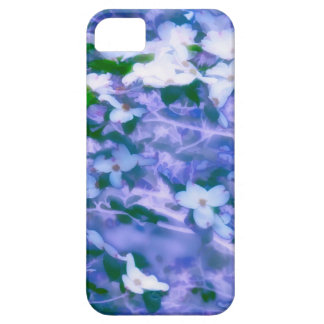 White Dogwood Blossom in Blue Case For The iPhone 5