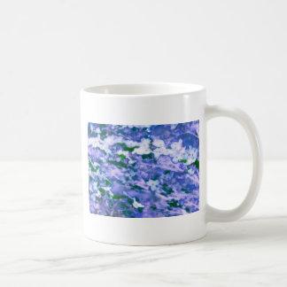 White Dogwood Blossom in Blue Coffee Mug