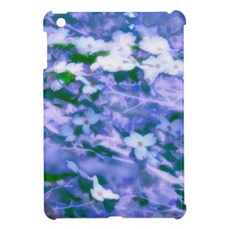 White Dogwood Blossom in Blue iPad Mini Covers