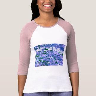 White Dogwood Blossom in Blue T-Shirt