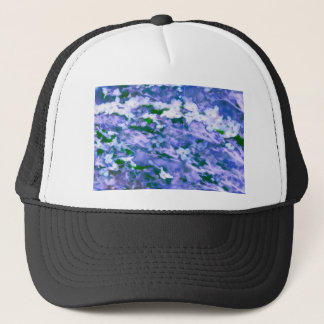 White Dogwood Blossom in Blue Trucker Hat
