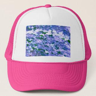 White Dogwood Blossom in Blue Trucker Hat