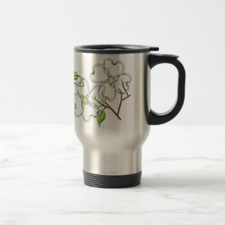 White Dogwood Travel Mug