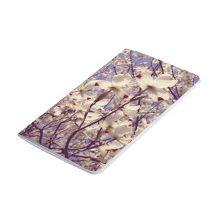 White Dogwood Tree Flowers Pocket Journal