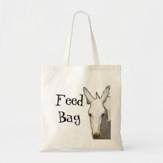 white donkey, Feed Bag