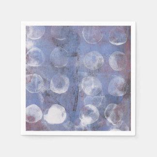 White Dots Monoprint Paper Napkin
