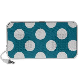 White dots on blue - retro style travel speaker