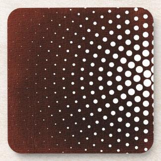 White Dots On Claret Pattern Coaster