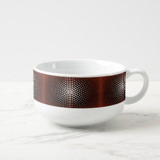 White Dots On Claret Pattern Soup Mug