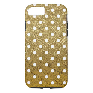 white-dots on golden color iPhone 7 case