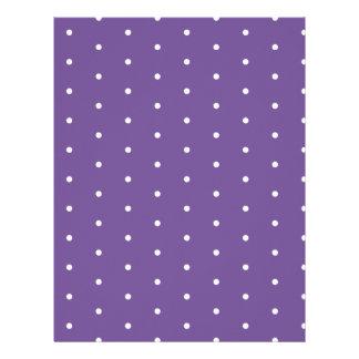 White Dots on Purple Paper