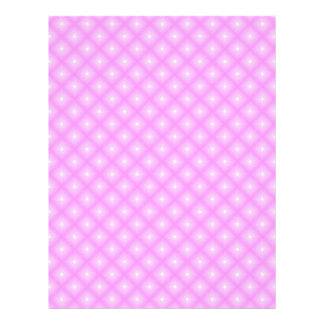 White Dots & Pink Plaid Scrapbook Paper Pages