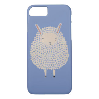 White Dots Round Sleeping Sheep iPhone 8/7 Case