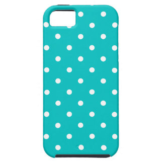 White dots, Teal Polka Dot Pattern. iPhone 5 Covers