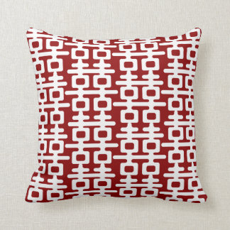 White Double Happiness Pattern Red Chinese Wedding Throw Pillow