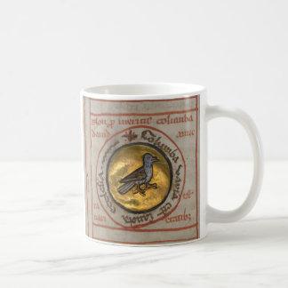 White Dove in a Gold Medallion Classic White Coffee Mug