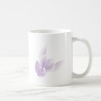 white dove in blue sky 3 coffee mug