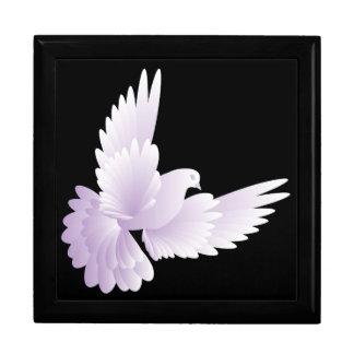 white dove in blue sky 3 jewelry box