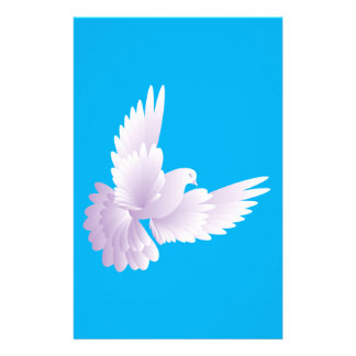 white dove in blue sky 3 stationery