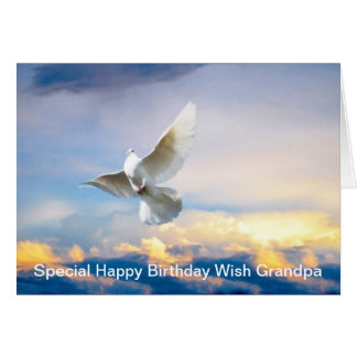 White dove in flight card
