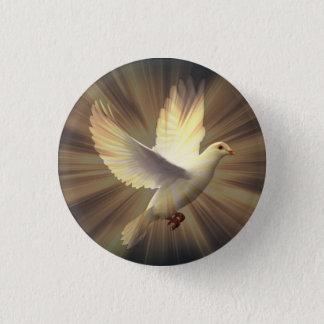 White Dove of Peace. 1 Inch Round Button