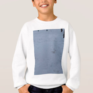 White dove on the snow in the woods sweatshirt