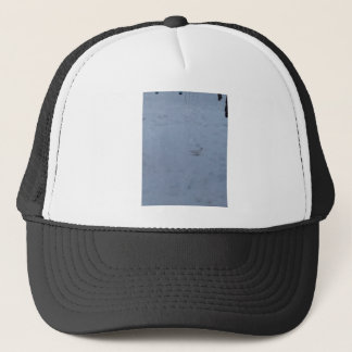 White dove on the snow in the woods trucker hat
