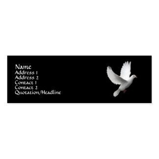 White Dove Pack Of Skinny Business Cards