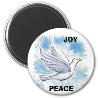 White Dove, PEACE, JOY Magnet