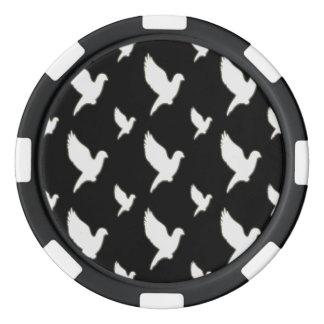 White Dove Poker Chips Set